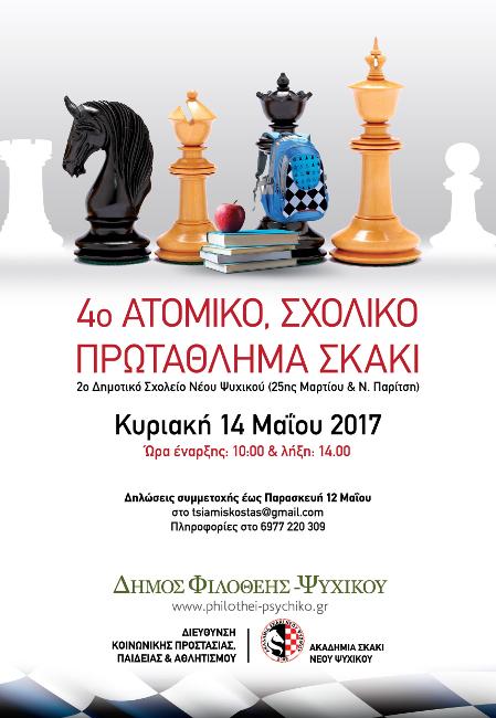 μαθητικο πρωταθλημα σκακιου